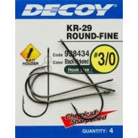 Крючок Decoy KR-29 WORM ROUND-FINE