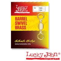 Вертлюжок Lucky John BARREL SWIVEL BRASS 001